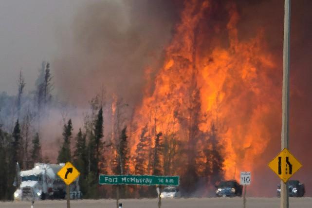 Les incendies de forêt qui font rage en... (Photo Jonathan Hayward, archives PC)