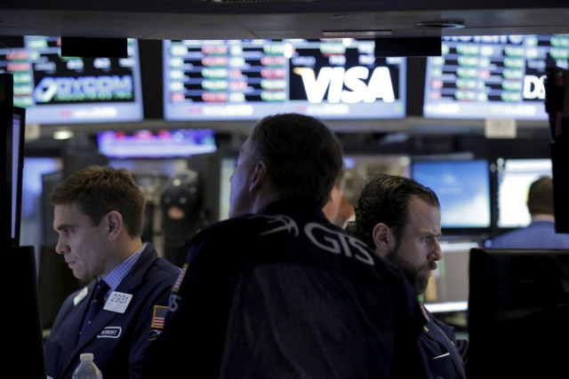 Vers 9h40, l'indice vedette Dow Jones Industrial Average... (PHOTO BRENDAN MCDERMID, REUTERS)