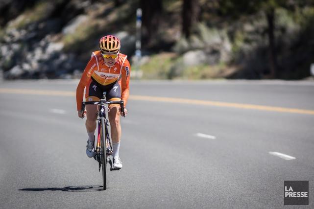La cyclisteKarol-Ann Canuel.... (Courtoisie)