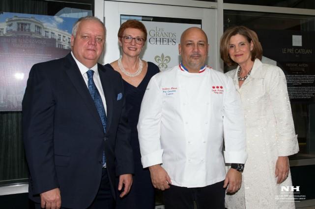 De gauche à droite: Claude Poisson, Paloma Fernandez,...