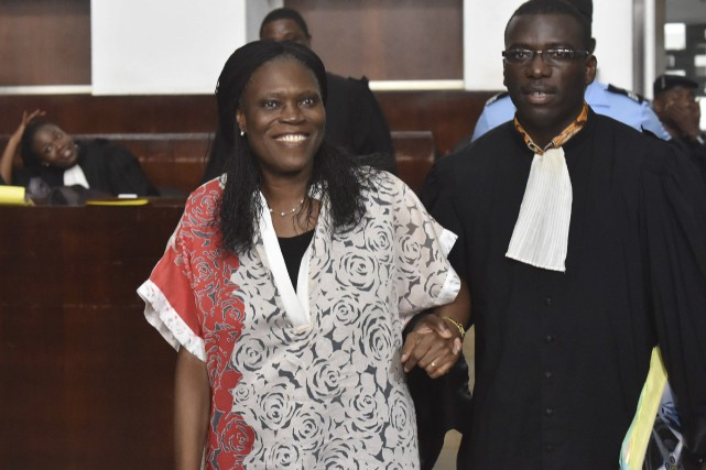 L'ex-Première dame de Côte d'Ivoire Simone Gbagboarborait un... (AFP, Issouf Sanogo)