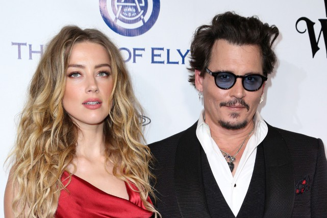 Amber Heard et Johnny Depp... (PHOTO ARCHIVES AP/INVISION)