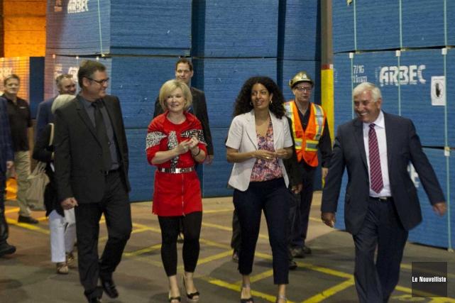 Les ministres Julie Boulet et Dominique Anglade ont... (Sylvain Mayer, Le Nouvelliste)