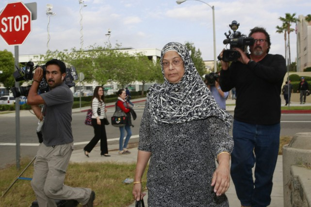Rafia Farook en avril dernier.... (PHOTO AP)