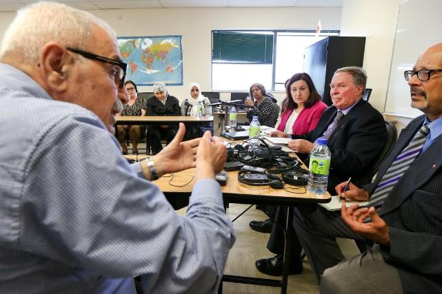Hier, le comité sénatorial des droits de la... (PHOTO ROBERT SKINNER, LA PRESSE)