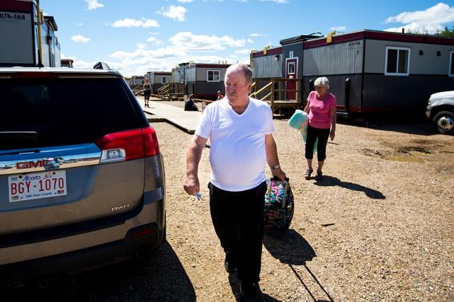 Les quelque 100000personnes évacuées tout début mai sont... (Photo Topher Seguin, Reuters)