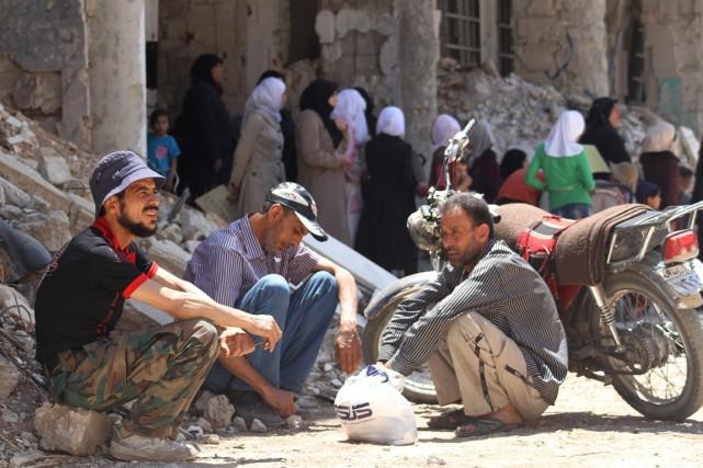 Daraya a été l'une des premières villes à... (PHOTO FADI DIRANI, ARCHIVES Afp)