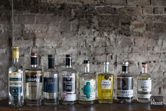 Le Québec produit maintenant huit gins qui ont... (PHOTO OLIVIER PONTBRIAND, LA PRESSE)