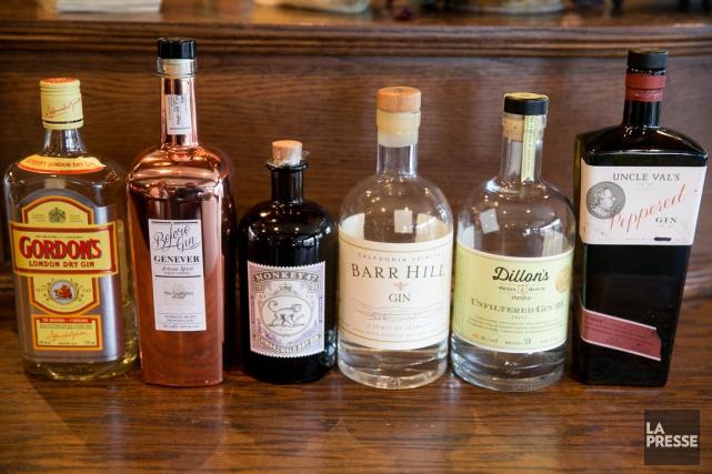 Voici quelques-unes des grandes catégories de gins qui... (PHOTO FRANÇOIS ROY, LA PRESSE)