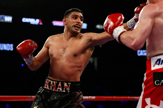Le boxeur professionnel britannique Amir Khan, médaillé d'argent... (Photo Andrew Couldridge, Reuters)