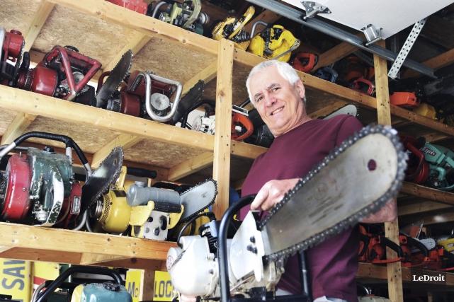 Alain Lamothe possède une collection de 650 scies... (Etienne Ranger, LeDroit)