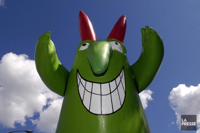 La mascotte de Juste pour rire, Victor.... (PHOTO BERNARD BRAULT, ARCHIVES LA PRESSE)