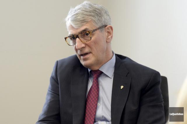 Le président de Diffusion Saguenay, Pierre Mazurette... (Photo Le Quotidien, Jeannot Lévesque)