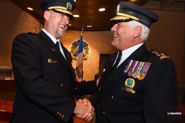 Le nouveau directeur de la police de Trois-Rivières,... (François Gervais, Le Nouvelliste)