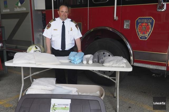 Patrick Gallagher, directeur du service de sécurité incendie... (Alain Dion, La Voix de l'Est)