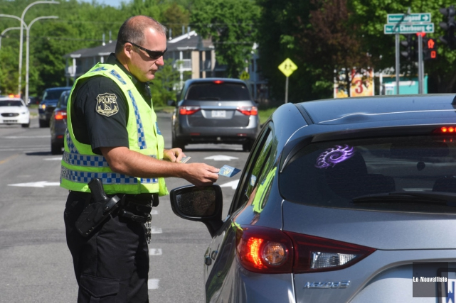 Les forces de l'ordre de la Sécurité publique de Trois-Rivières ont tenu une... (François Gervais, Le Nouvelliste)