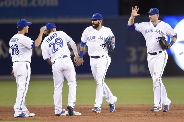 Il s'agit de la 29e victoire des Jays... (Photo Frank Gunn, La Presse Canadienne)