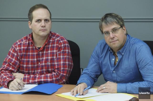 Le directeur général de Saint-Paul-d'Abbotsford, Daniel-Éric St-Onge (à... (Alain Dion, archives La Voix de l'Est)