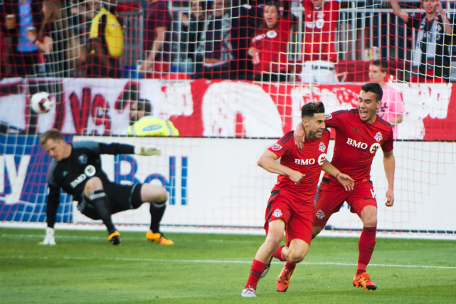 Jonathan Osorio (au centre) a marqué deux buts... (Photo Nathan Denette, PC)