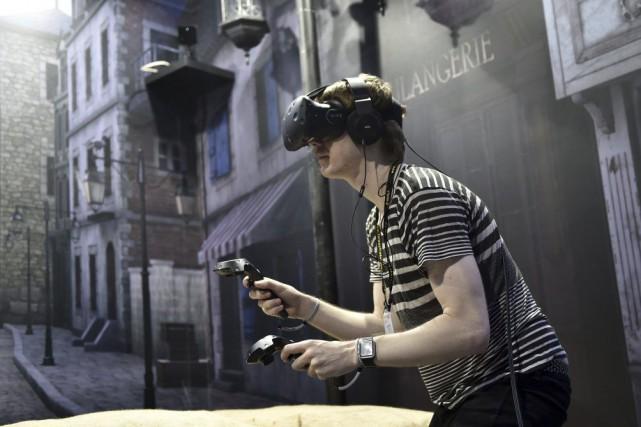 La réalité virtuelle (RV) est toute la semaine... (PHOTO SAM YEH, AFP)