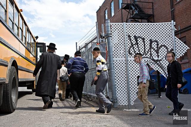 L'école juive hassidique jugée clandestine, au6355, avenue du... (Photo Patrick Sanfaçon, archives La Presse)