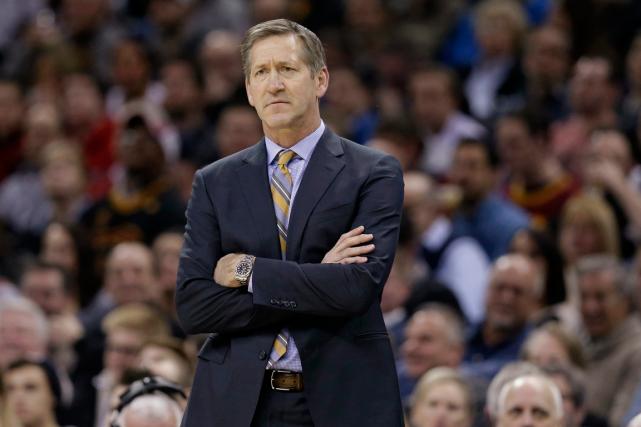 Le nouvel entraîneur-chef des Knicks de New York,Jeff... (Photo Tony Dejak, archives AP)