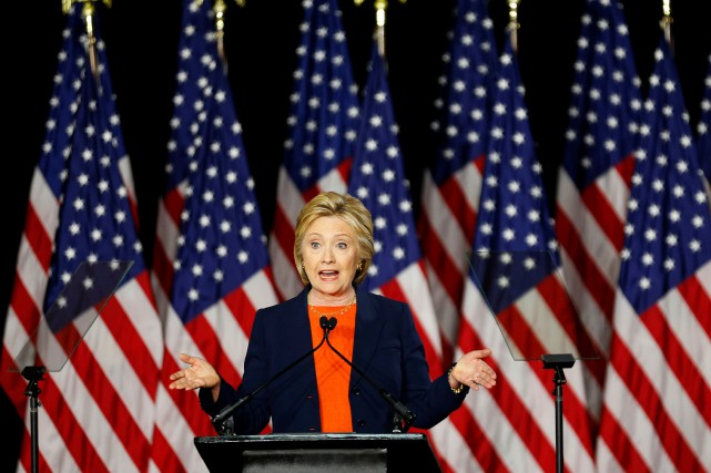 La candidate à l'investiture démocrate, Hillary Clinton... (Photo Mike Blake, Reuters)