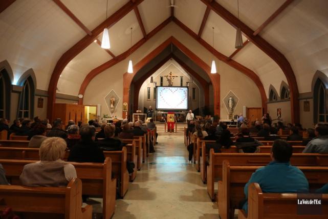 Soirée de prières àl'église Immaculée-Conceptionde Granby.... (Catherine Trudeau, archives La Voix de l'Est)