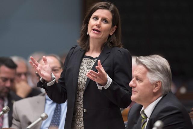 La ministre de la Justice, Stéphanie Vallée.... (La Presse Canadienne)