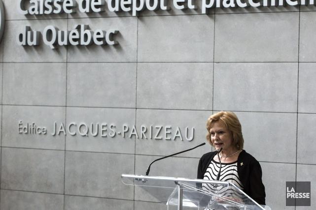Lisette Lapointe, la femme de Jacques Parizeau, a... (La Presse Canadienne, Paul Chiasson)