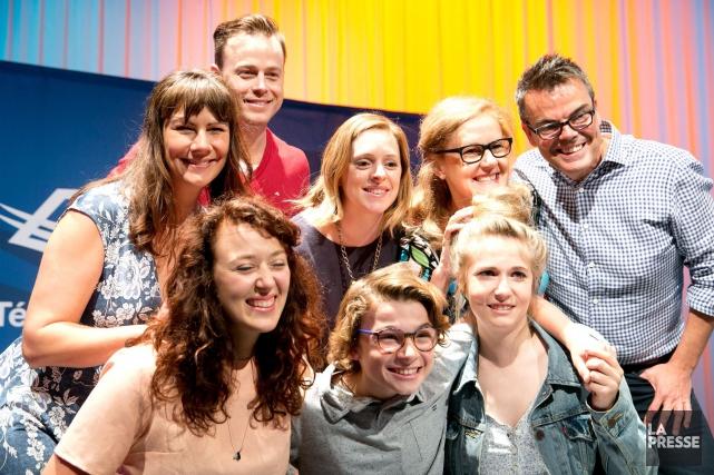 L'équipe de la nouvelle série Conseils de famille... (La Presse, François Roy)