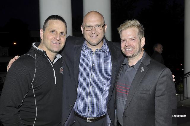 Les trois hommes de hockey Gilles Bouchard, André... (Rocket Lavoie, Le Quotidien)