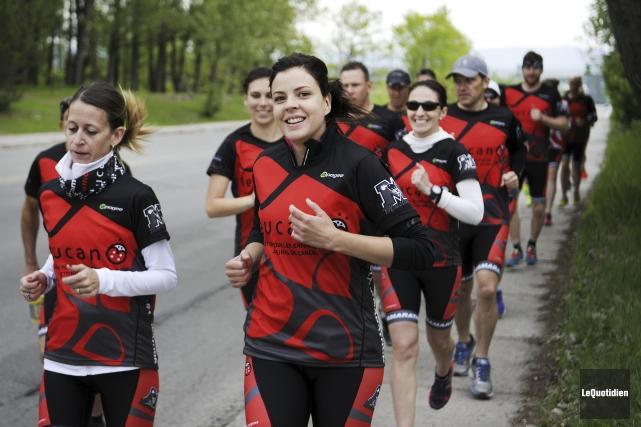 Le coup d'envoi de la 7e édition de l'Ultramarathon SagLac a été donné jeudi... (Photo Le Quotidien, Mariane L. St-Gelais)