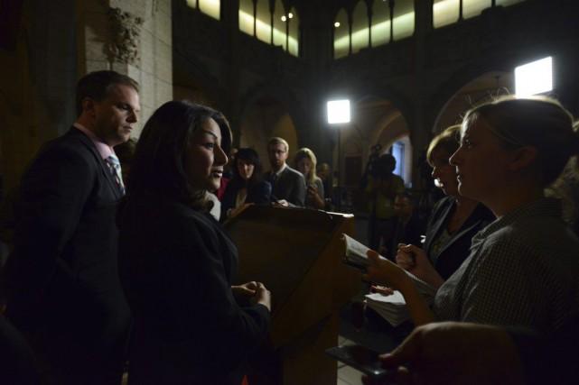 La ministre des Institutions démocratiques, Maryam Monsef, a... (Sean Kilpatrick, PC)