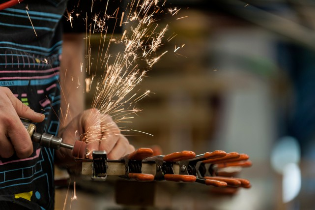 La production industrielle aux États-Unis a nettement accéléré en avril pour... (PHOTO ABIGAIL SAXTON, ARCHIVES BLOOMBERG)
