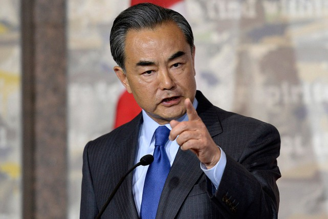 En visite au Canada, Wang Yi a estimé... (Photo Justin Tang, PC)