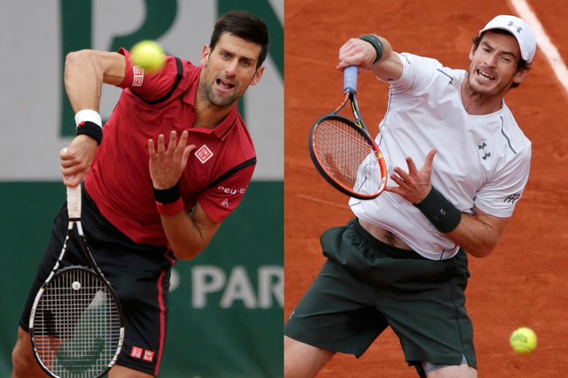 Novak Djokovic et Andy Murray... (Photos Reuters)
