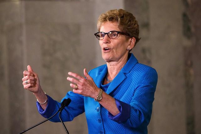 La première ministre de l'Ontario, Kathleen Wynne.... (PHOTO ARCHIVES PC)