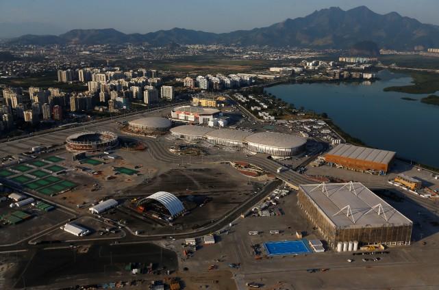 Vue aérienne du complexe olympique des jeux olympiques,... (Photo Ricardo Moraes, archives Reuters)