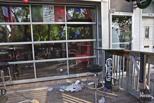 L'attaque survenue vers 16h hier dans le bar... (Photo Patrick Sanfaçon, archives La Presse)