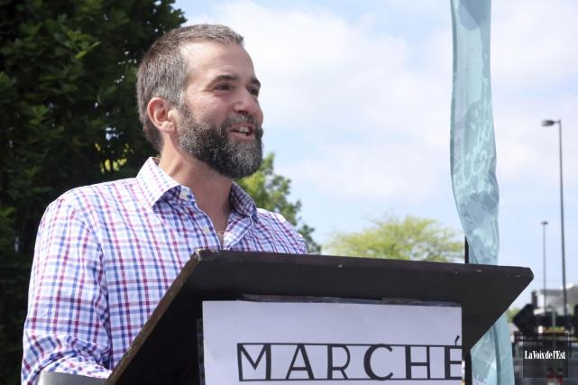 Le président du Marché public de Granby Région,... (Christophe Boisseau-Dion, La Voix de l'Est)