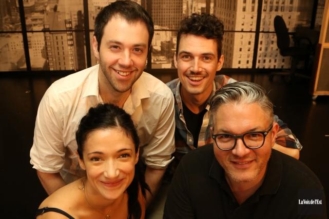 Qui sont les quatre comédiens de l'Appel sauvage?... (Janick Marois, La Voix de l'Est)