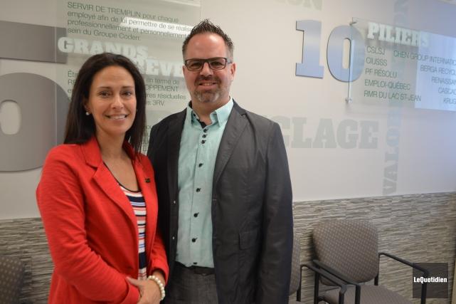La directrice générale et le président de Coderre,... (Photo Le Quotidien, Laura Lévesque)