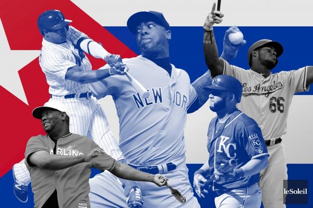 Ils sont près de 200Cubains à avoir évolué dans les ligues majeures, faisant... (Infographie Le Soleil)