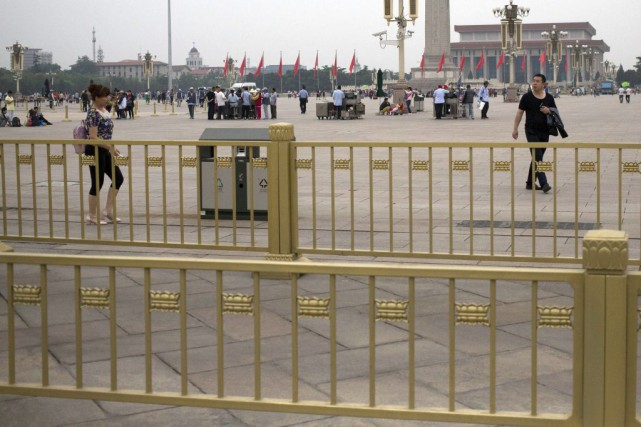 La place Tiananmen à Pékin.... (Photo Mark Schiefelbein, AP)