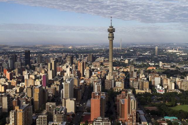 Vue aérienne sur la ville deJohannesburg, en Afrique... (PHOTO ARCHIVES BLOOMBERG)