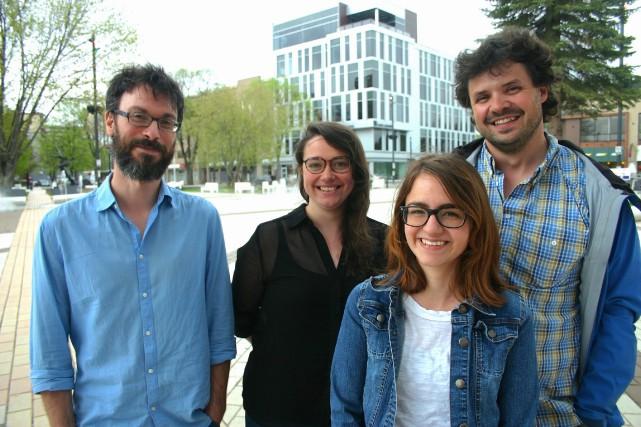 Guillaume Langlois, Laurie Boivin et Charlie Lescault du... (Photo courtoisie, Caroline Gagnon)