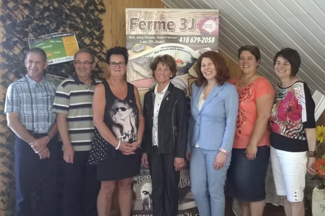 Christian Taillon, Carol Lamontagne, Odette Perron, Lise Bradette... (Photo courtoisie)