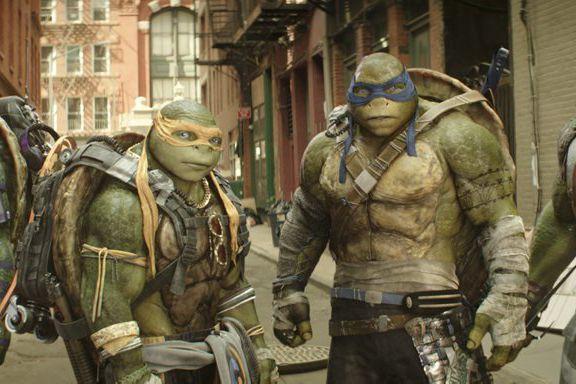 Les Tortues Ninja Michelangelo et Leonardo.... (Photo Lula Carvalho, Paramount Pictures)