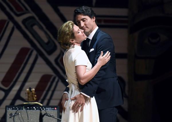 Justin Trudeau et sa femme Sophie ont fait... (La Presse Canadienne, Justin Tang)